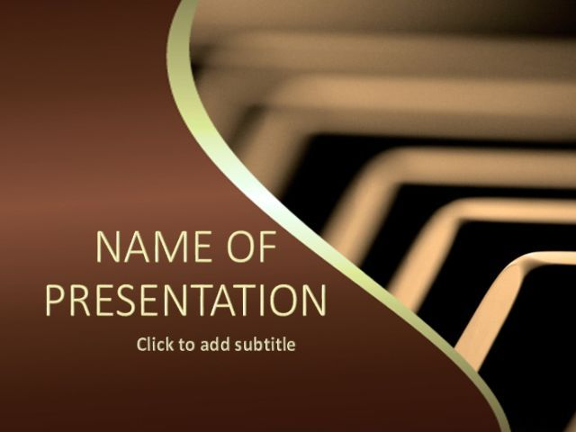 Piano - free powerpoint templates