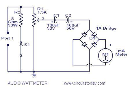audio wattimeter - 0 5 to 50w electrical projects, electrical wiring,  arduino projects, electronics