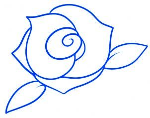 Dessiner Une Rose Rouge Etape 7 Rose Pinterest Rose Drawing