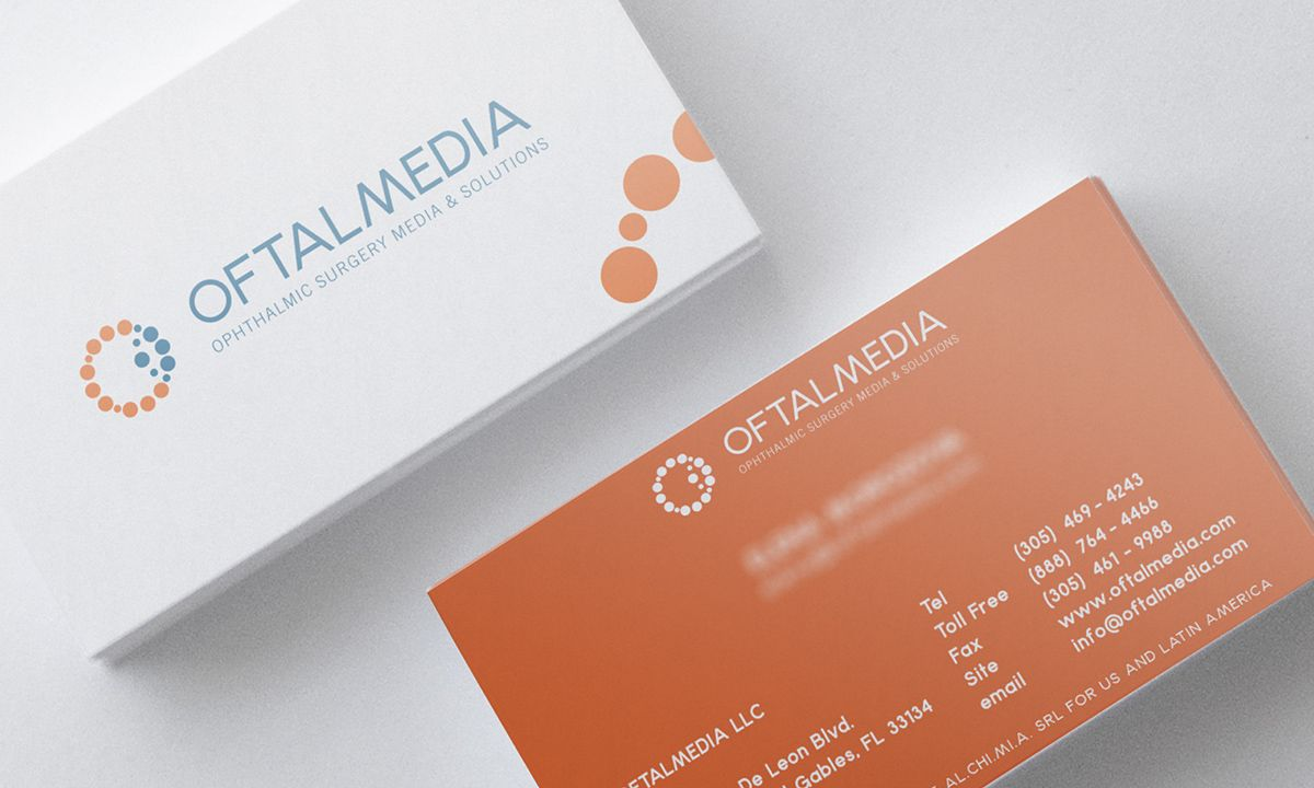 Oftalmedia on Behance by Endea #inspiration #brandidentity #bigliettodavisita