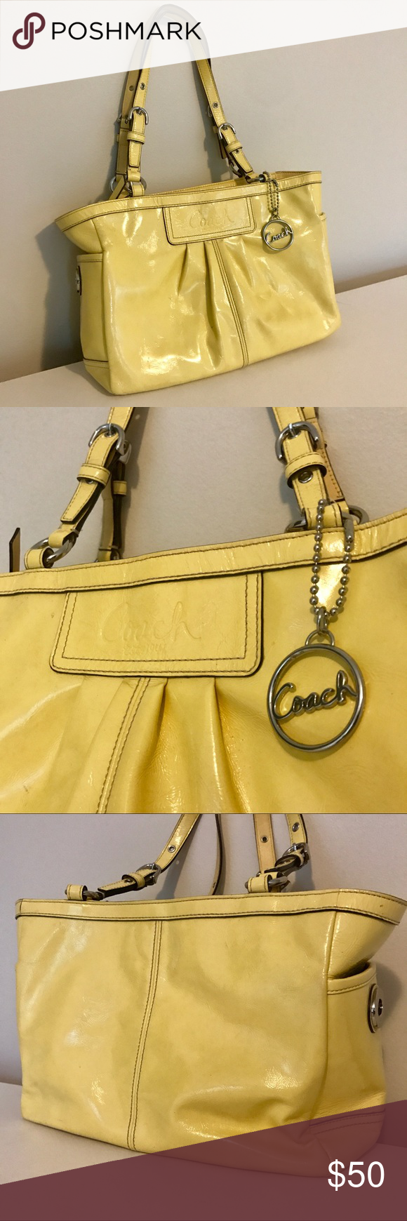 Yellow Coach Purse Used Authentic Yellow Coach Purse
