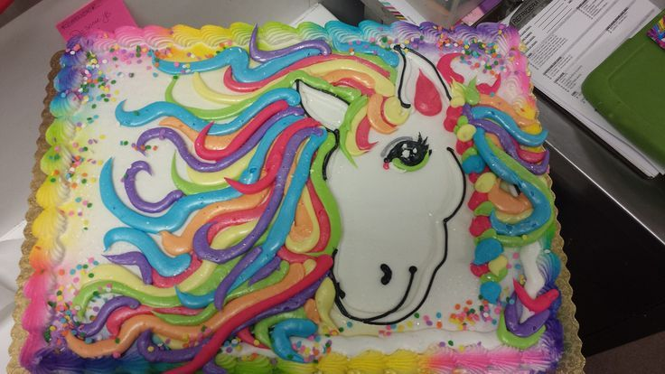 walmart rainbow unicorn cake