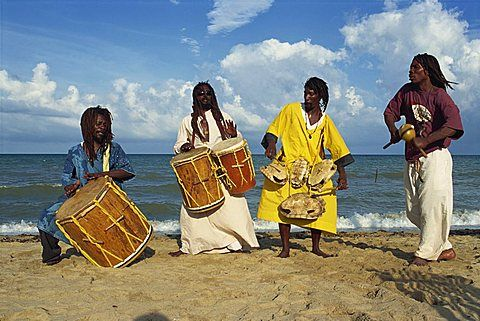 The Original Turtle Shell Band, a group of Garifuna musicians, Dangriga, Stann Creek, Belize, Central America