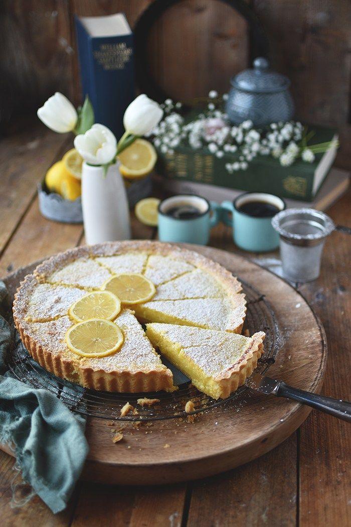 Zitronen-Buttermilch-Shortbread-Tarte: Frühlingsgefühle ⋆ Knusperstübchen #sweetpie