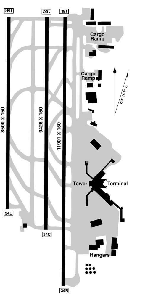 Seattle-Tacoma International Airport Map | Airports & Runways ...