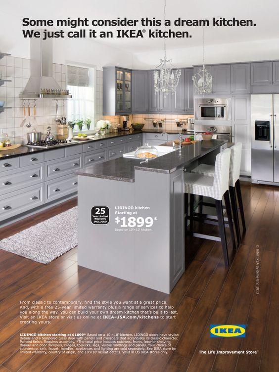 Ikea Kitchen Like The Gray Cabs And, Narrow Kitchen Cabinets Ikea