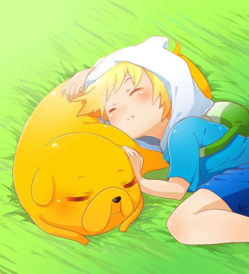 Adventure Time: Sleepy Puppies by *Lezombie-kun on deviantART