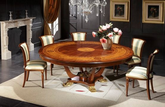 Room 72 Inch Round Italian Dining Table