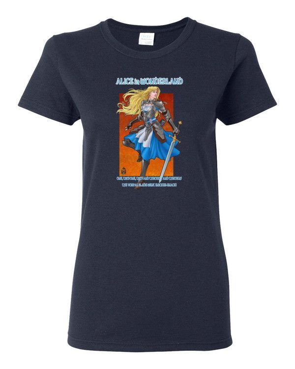 Alice and Her Vorpal Blade Heavy Cotton Woman's T-Shirt