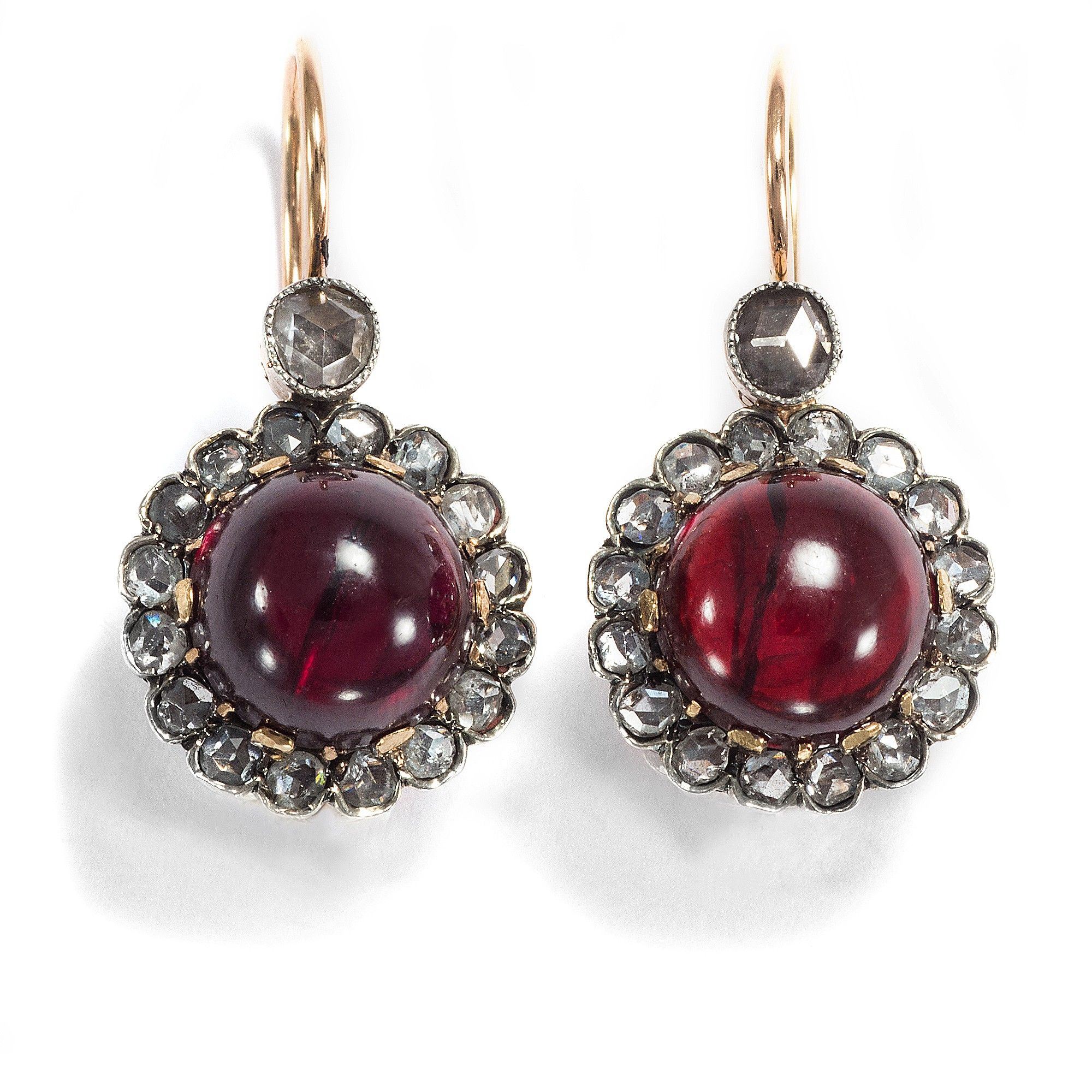 paste gold products earrings diamond jewelry vintage pendant dangling ear faux garnet jewellery