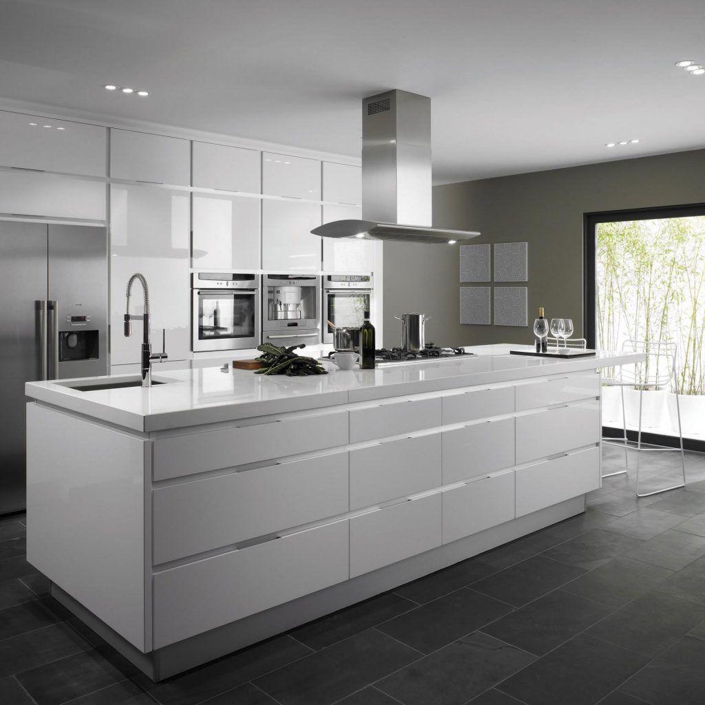 Contemporary Kitchen Floors: Modern White Kitchen Flooring