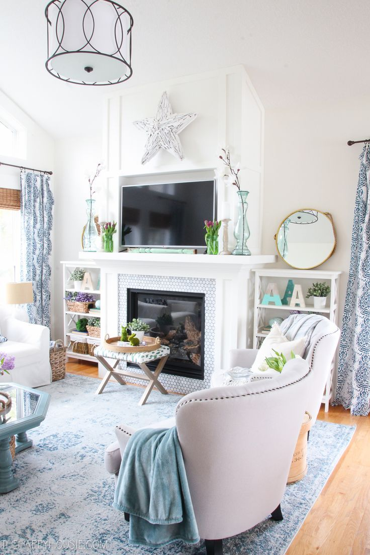 Seasonal Simplicity Spring Home Tour Series Day One | Living rooms ...