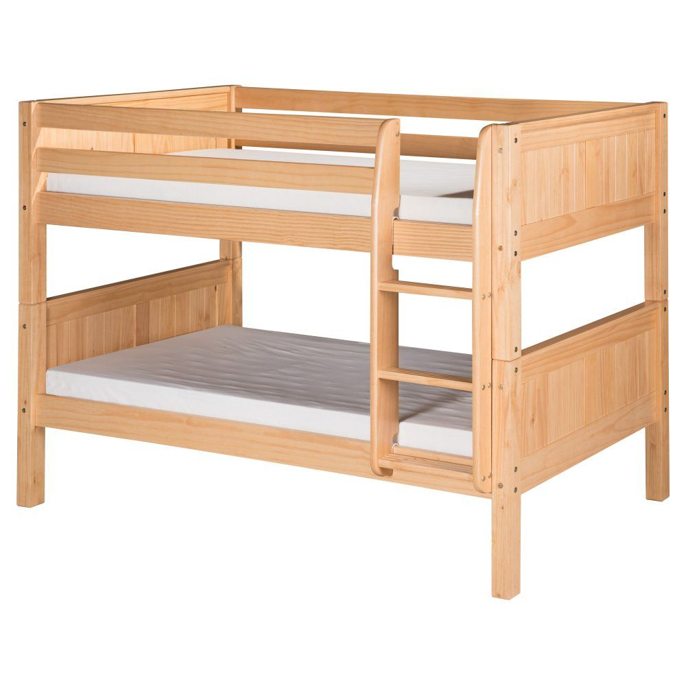 Camaflexi Panel Headboard Twin over Twin Low Bunk Bed  Bunk Beds
