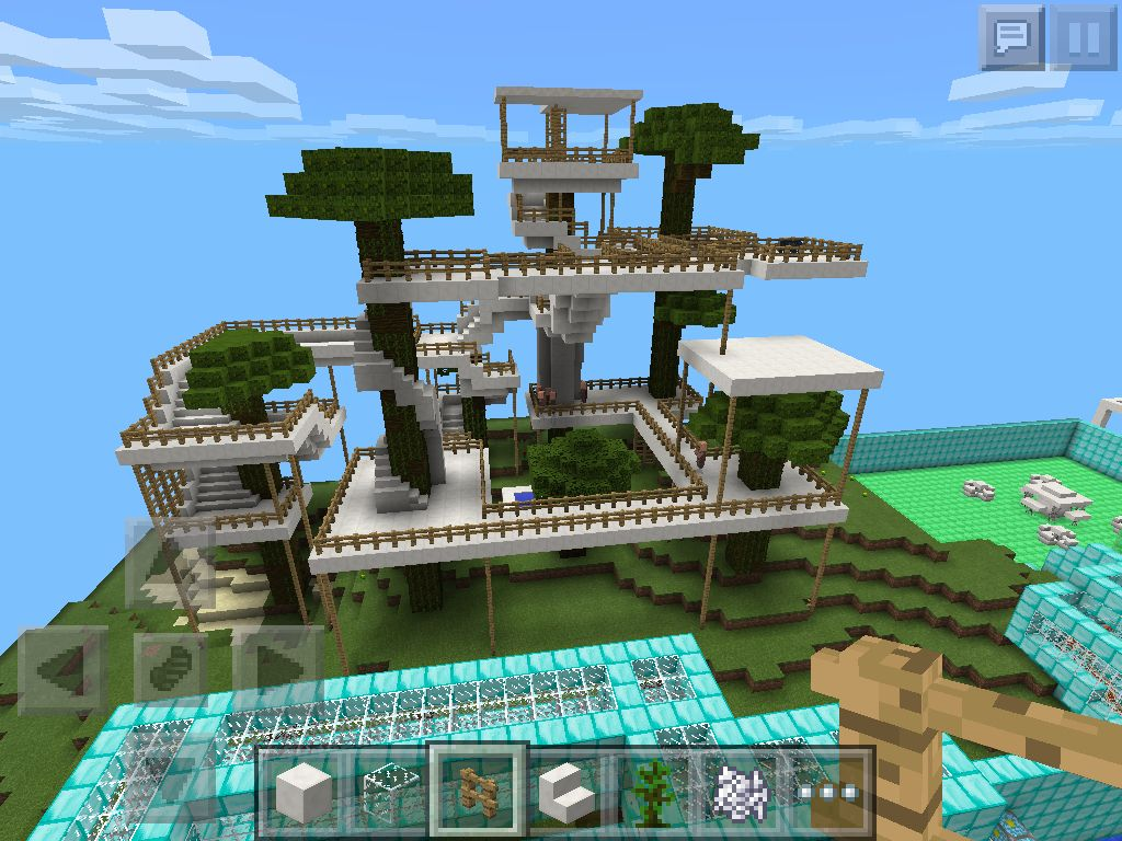 tree house in minecraft