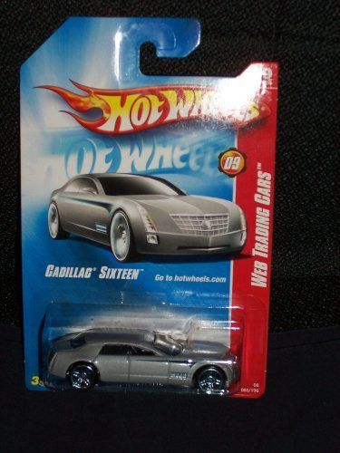 Hot Wheels 2008 085 85 Web Trading Cars Cadillac Sixteen # 9 of 24 Silver Grey with Blue PR5 Wheels 1:64 Scale by Mattel. $0.98. nip