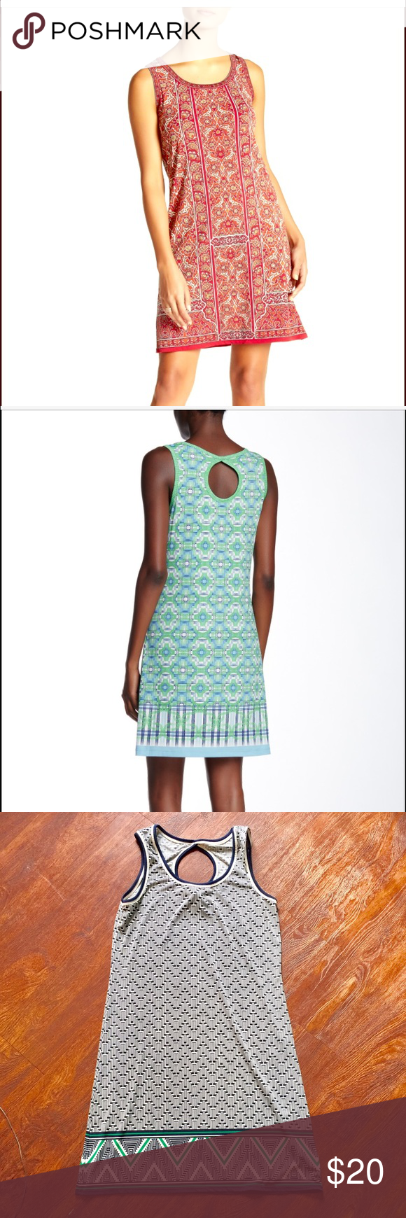 f0f083dada43b5 Max Studio printed keyhole back dress EXCELLENT used condition, worn once,  keyhole tank dress from Max Studio! Stock photos are just to show fit, ...