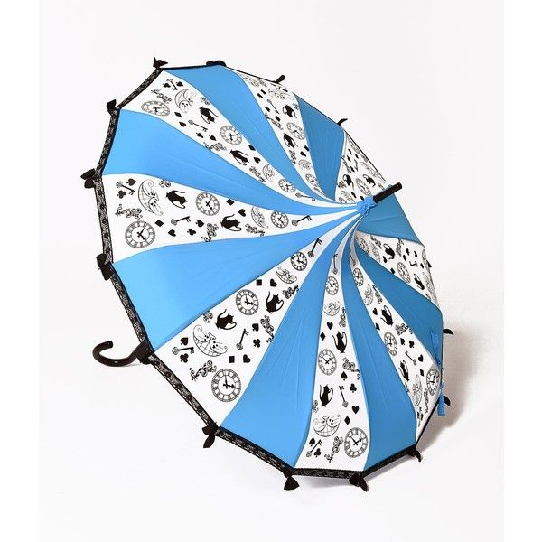 White Light Blue Curious Paa Umbrella 42 Liked On Polyvore Featuring Home Outdoors Patio Umbrellas Multicolor Multi Colored