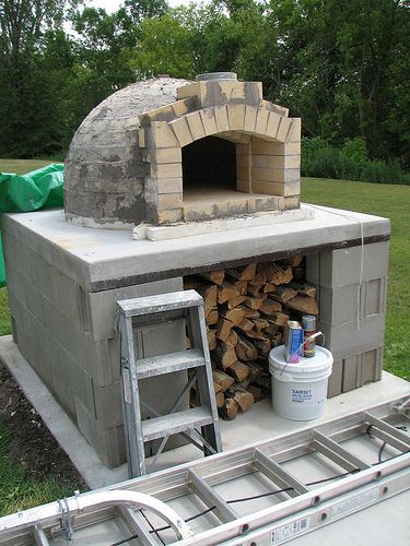 DIY wood fired oven I so want one of these one day! when we own a