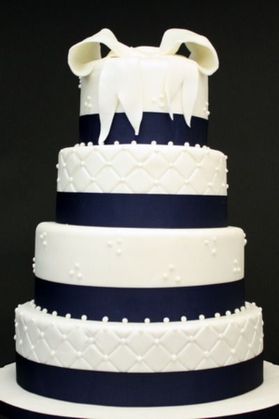 Dark Blue Wedding Cake