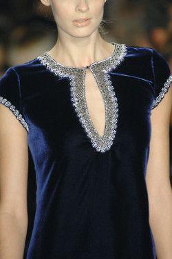 blue velvet, beautiful neckline