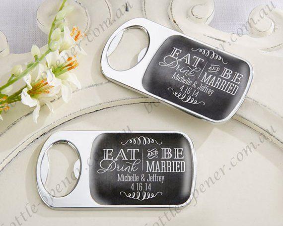 Custom Bottle Opener Wedding Favor