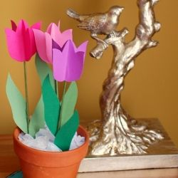 make easy diy paper tulips with a homemade tulip template x4 diy