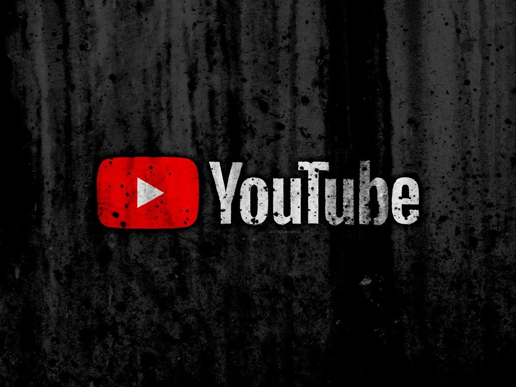 YouTube, 4k, logo, grunge, black background, YouTube logo