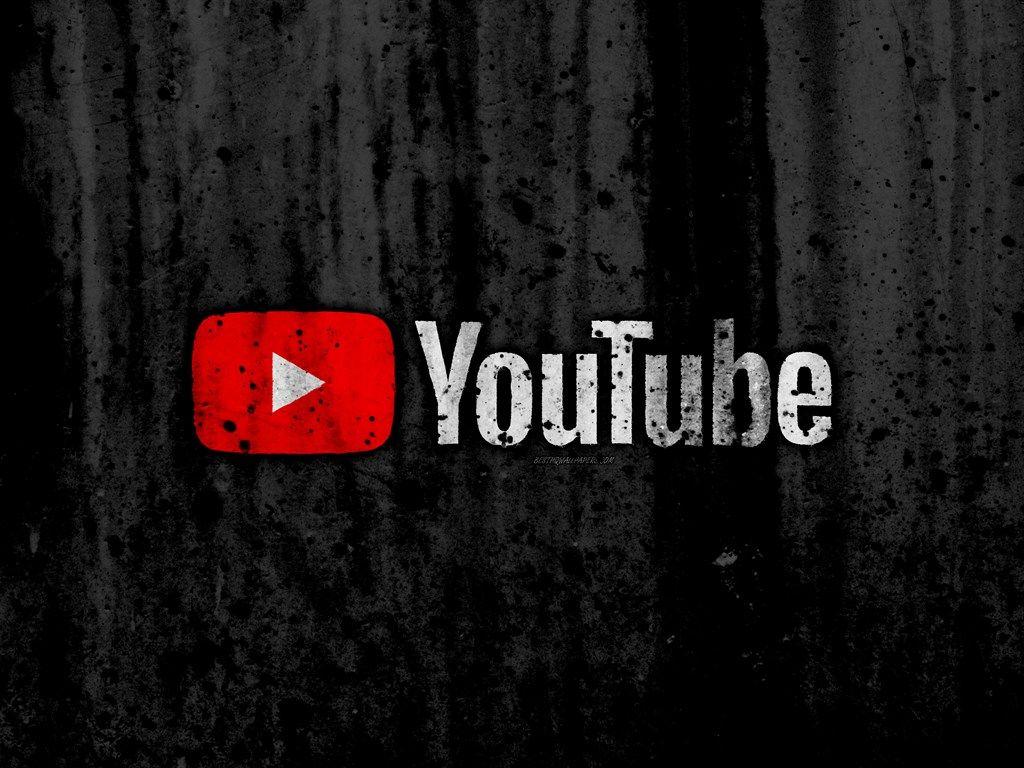 YouTube, 4k, logo, grunge, black background, YouTube logo