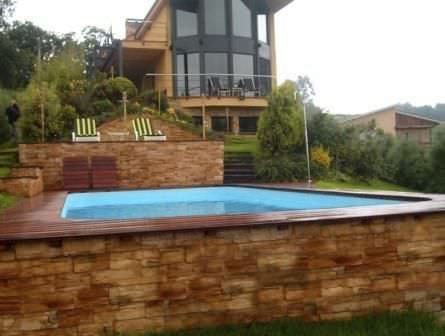 Above Ground Swimming Pool / Polyester / One Piece / Outdoor .