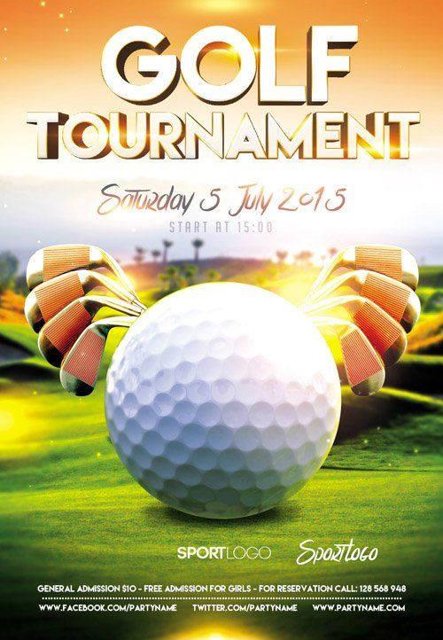 14 awesome golf tournament flyer psd images