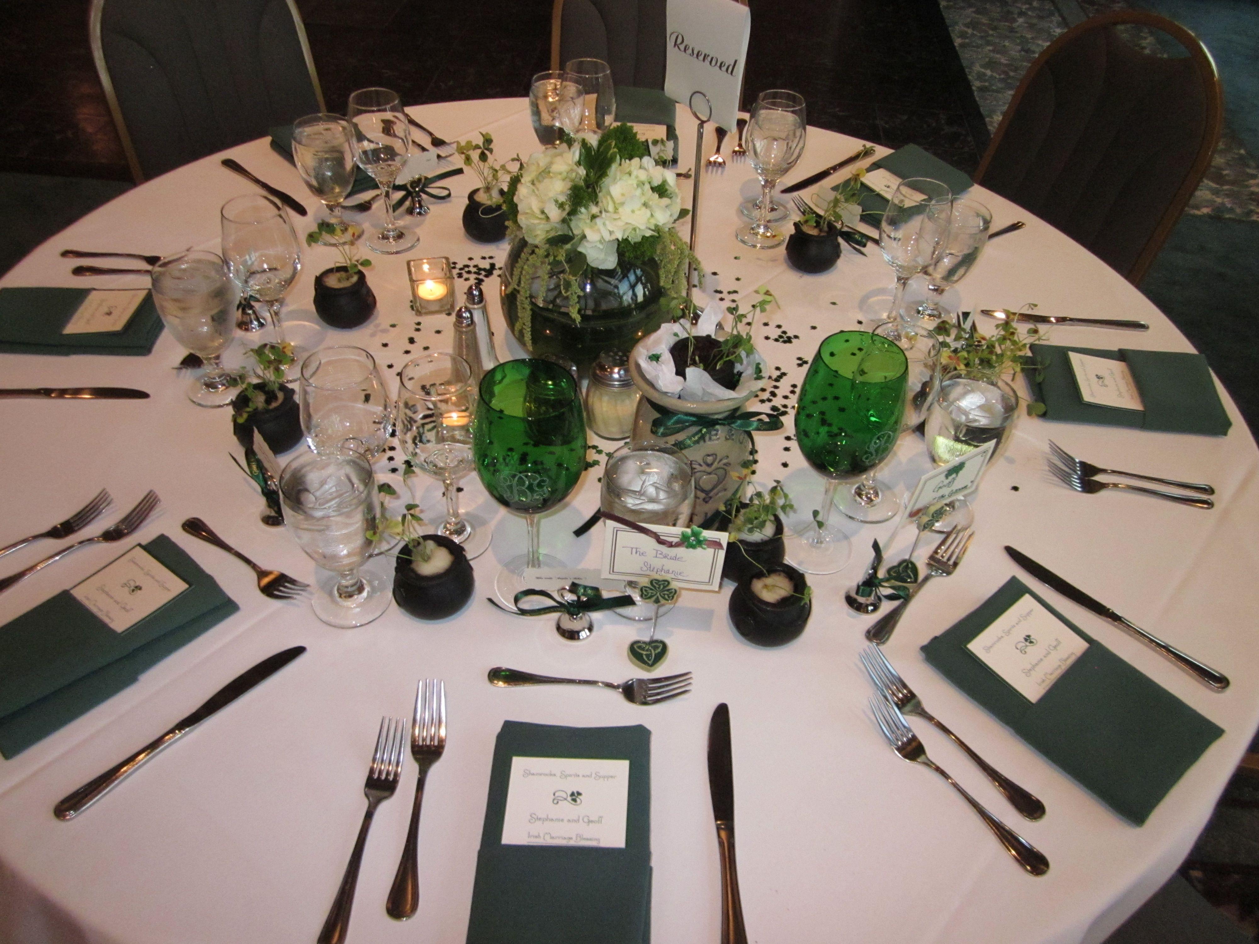 irish themed tables   Shamrocks, Spirits and Supper: An Irish Themed ...