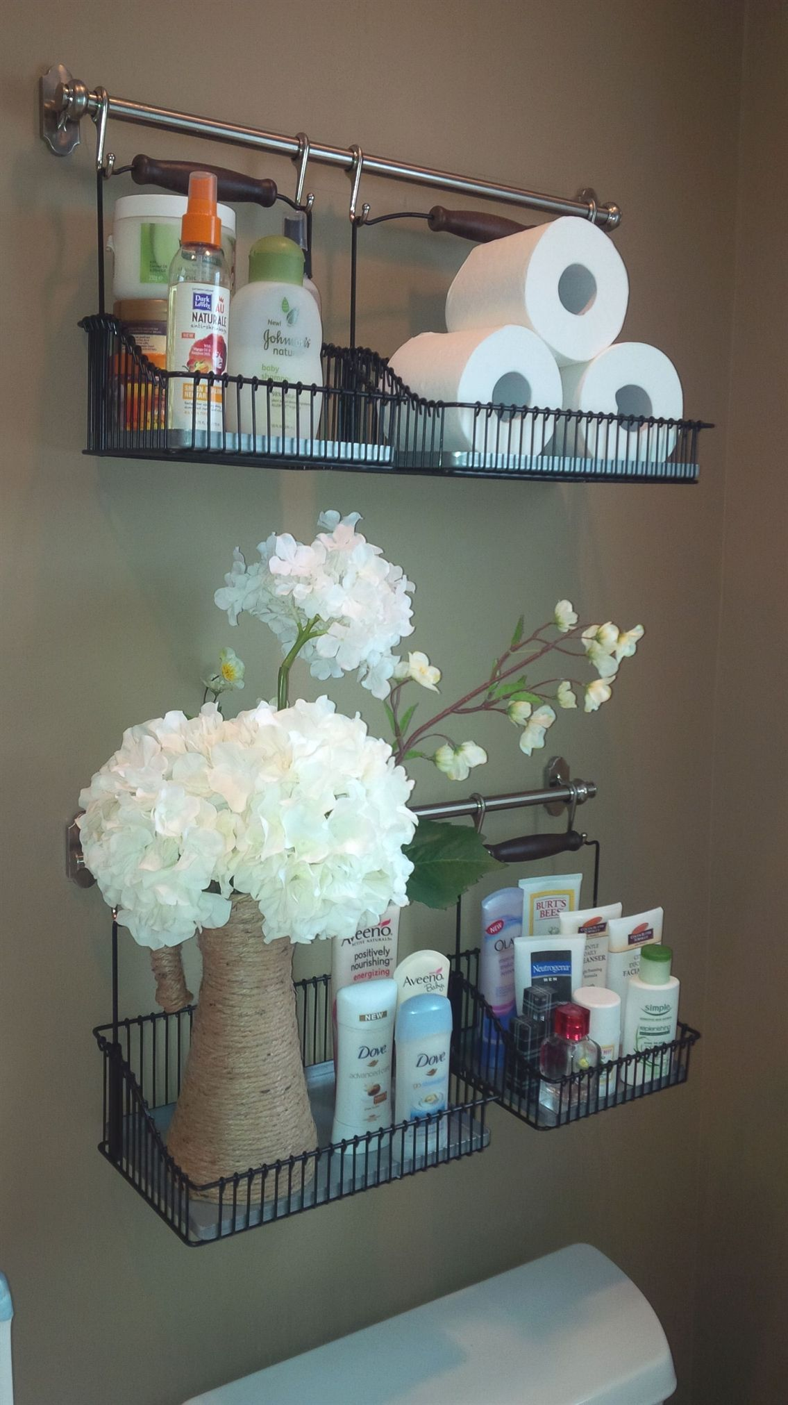 Ikea hack new shelving system in the bathroom bathroomorganization