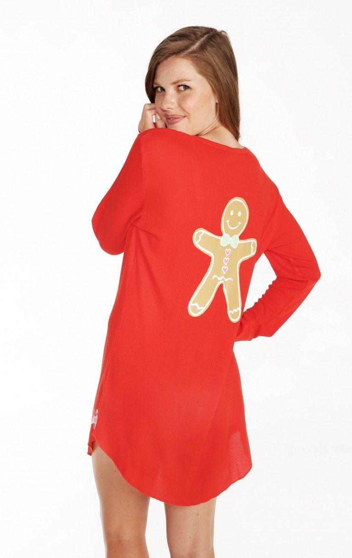 Wildfox Christmas Pajamas.Gingerbread Man Snowed In Pajama Sleepshirt Work