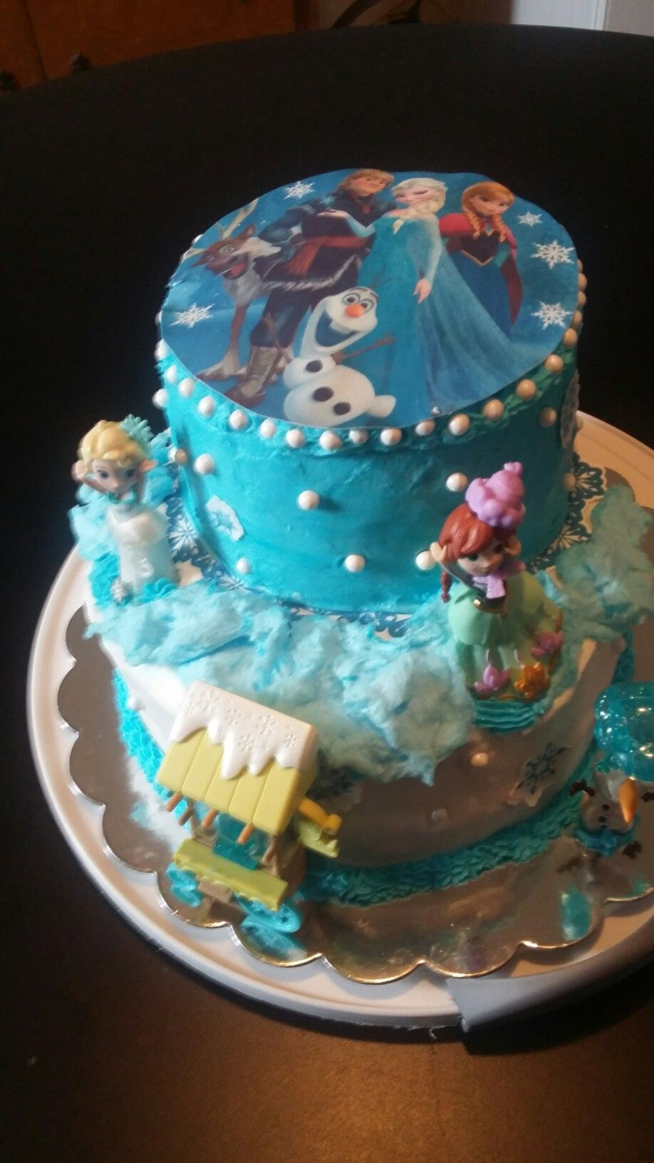 A birthday cake for a customer daughter the cartoon characters