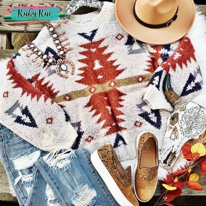 The Gunnison Aztec Sweater #aztec