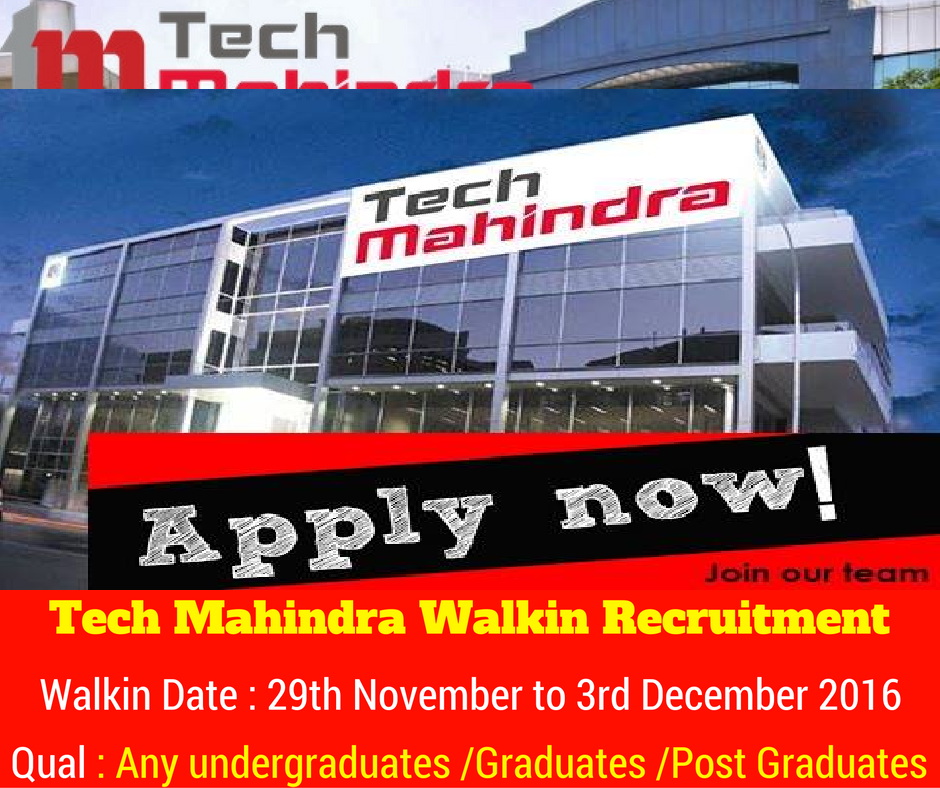 Tech Mahindra Hiring Freshers for Executive from 29th