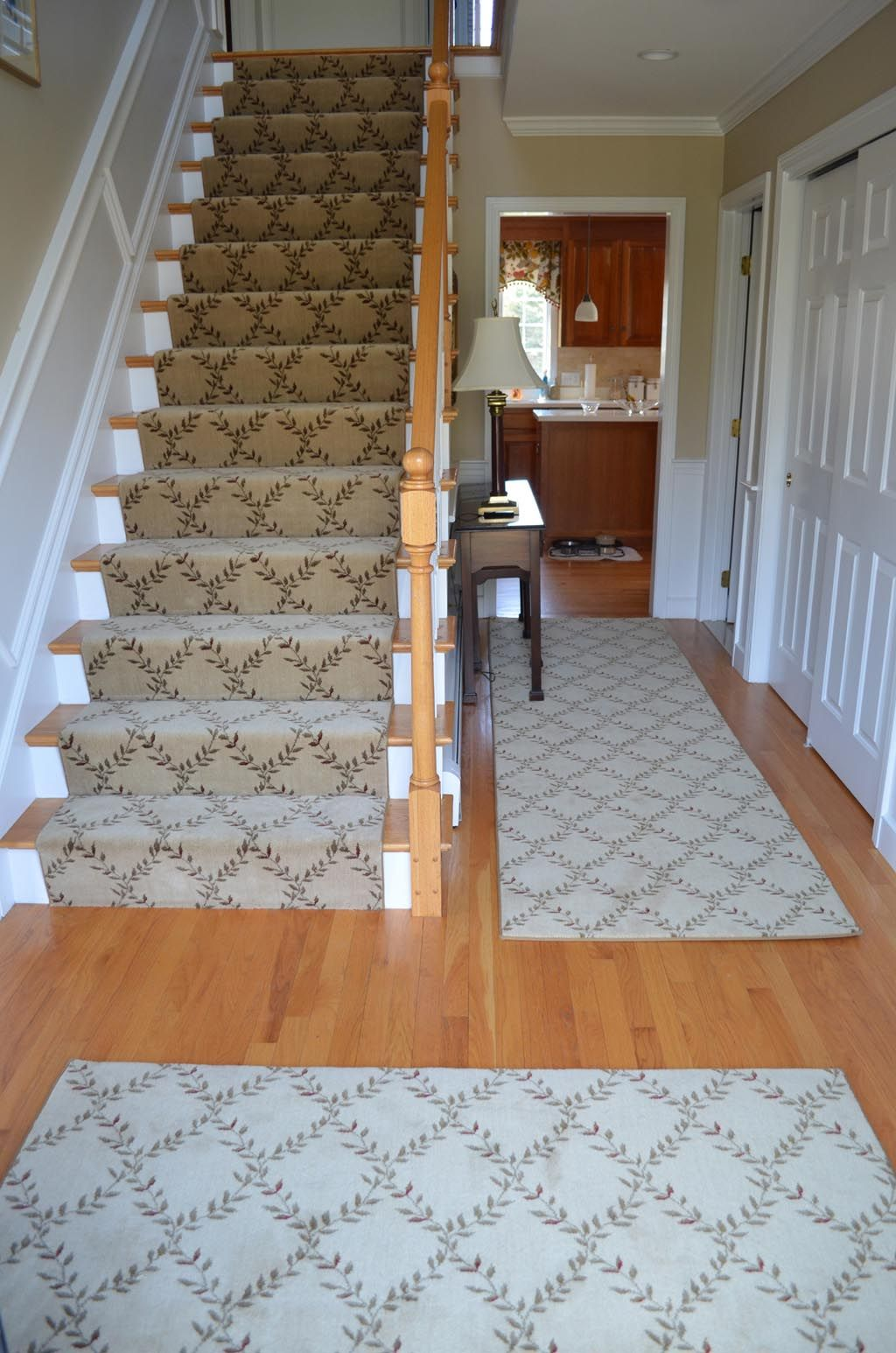 Wood stair carpet runners carpets pinterest stair for Runners carpets and rugs