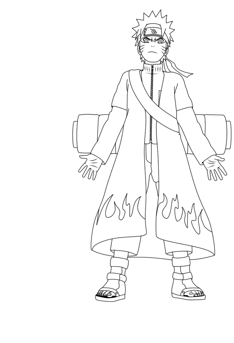 Naruto Will Face Enemies Coloring Pages printable