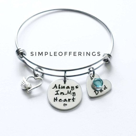 A Beautiful Memorial Bracelet To Honor And Remember Your Dad Or Loved One With This Expandable