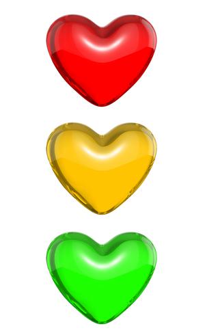 Traffic Light Heart Emoticons Google Emoticons Facebook