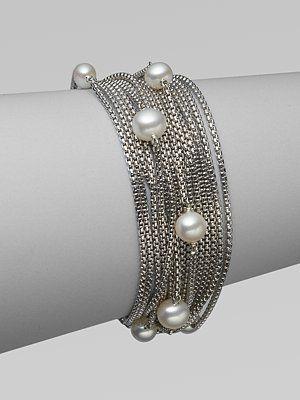 bf65e0cbb2a7 ... gold · david yurman pearl sterling silver box chain bracelet ...