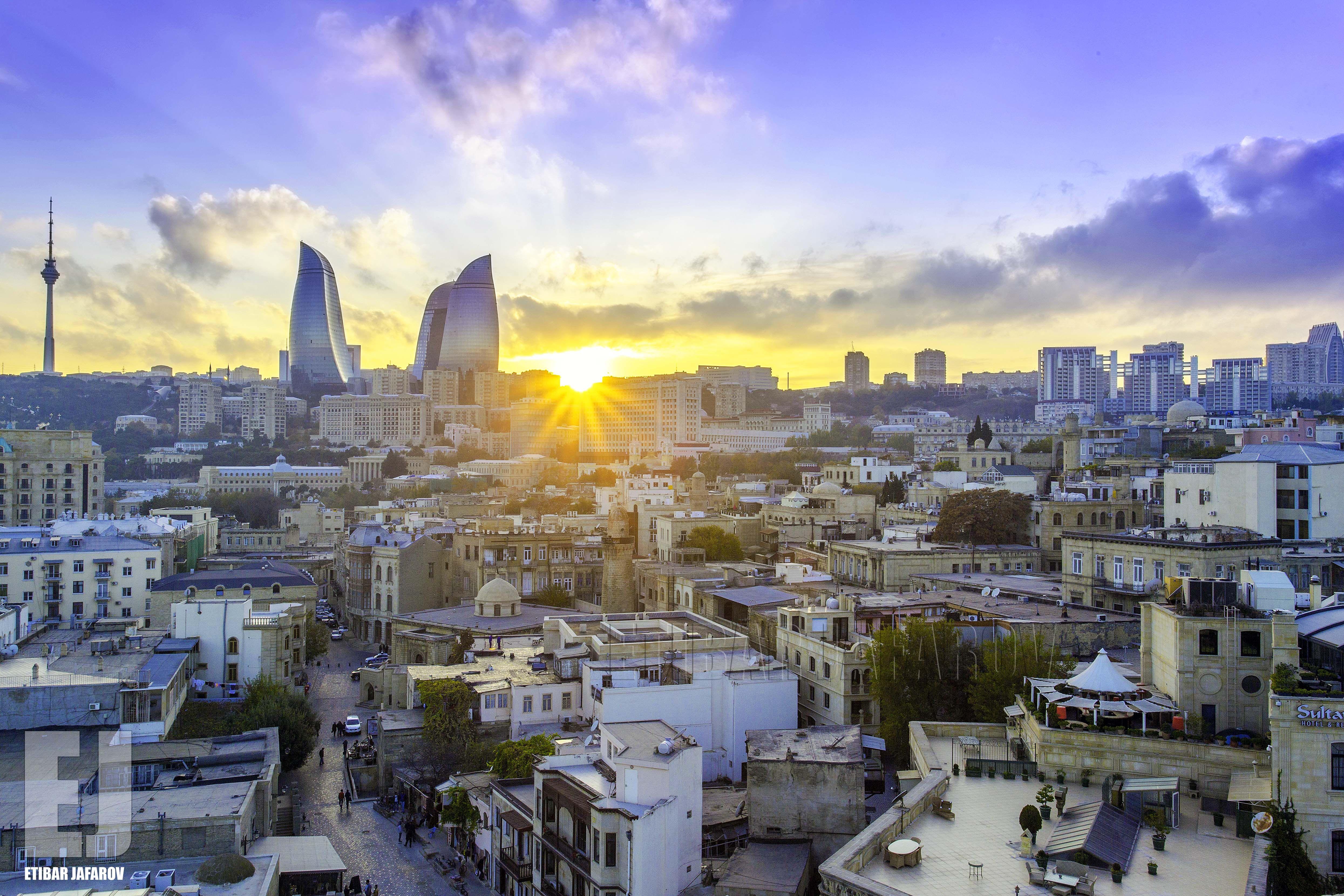 Old Baku Cityscape Photography Azerbaijan Travel Cityscape