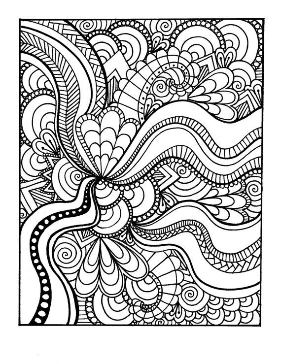 coloriage | Zentangles | Pinterest | Mandala para colorear, Colorear ...