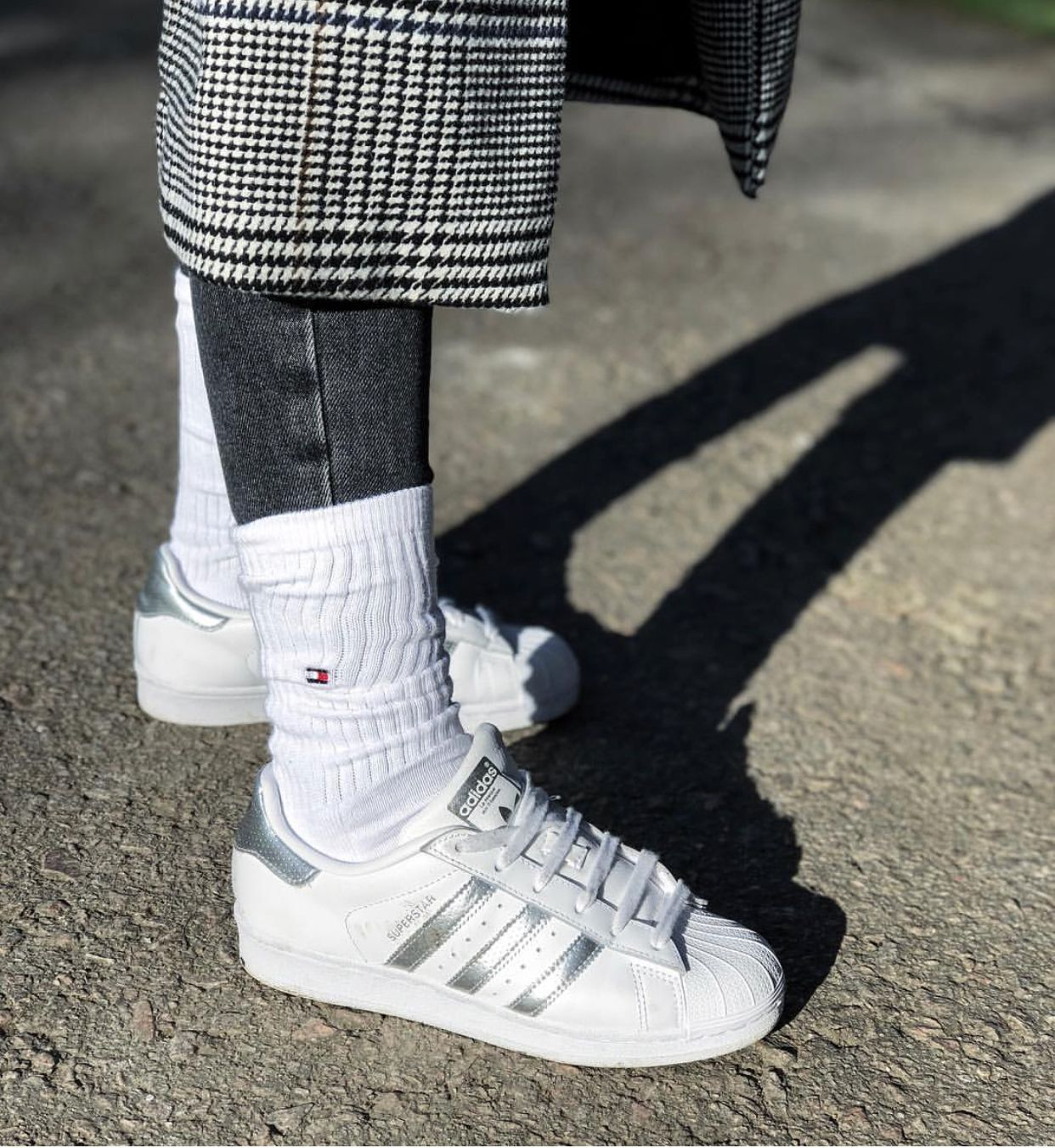 White And Silver Combination Adidas Superstar Silver White Adidas Superstar Schuhe Superstars Schuhe Adidas Superstar