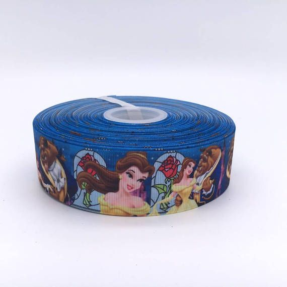 Beauty and the Beast Rose 2 50mm Width Grosgrain Ribbon