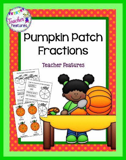 Pumpkin Math Centers FRACTIONS | Math and Elementary math