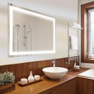 Dyconn Catella 36 In X 30 Led Backlit Vanity Bathroom Mirror With Touch On Off Dimmer And Anti Fog Function Gl