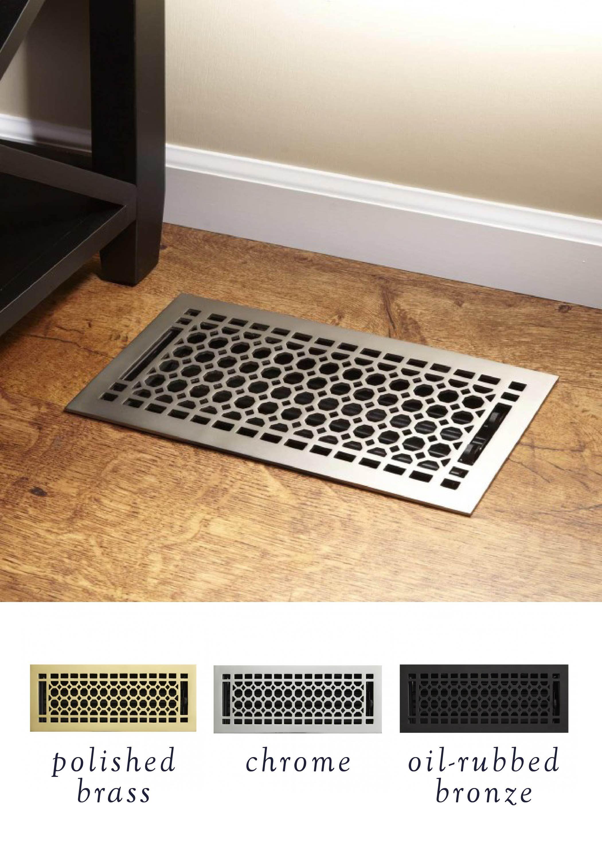 Honeycomb Brass Floor Register Honeycombs Hardware And
