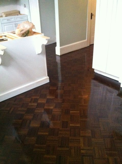Beautifully Refinished Parquet Flooring I Recommend