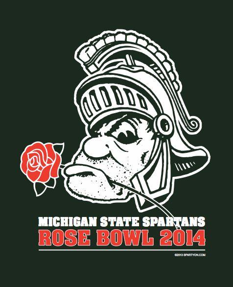 michigan state rose bowl tshirt spartans msu